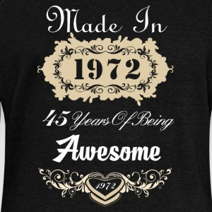Made in 1972 45 years of being awesome - Women's Wideneck Sweatshirt