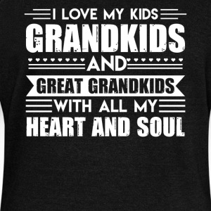 I Love My Kids Shirt - Women's Wideneck Sweatshirt