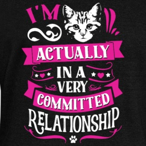 In A Very Committed Relationship With Cat T Shirt - Women's Wideneck Sweatshirt