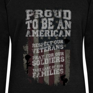 Proud to be an American! - Women's Wideneck Sweatshirt