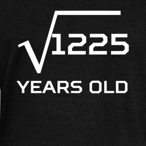 Square Root 1225 Funny 35 Years Old 35th Birthday - Women's Wideneck Sweatshirt