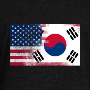 Korean American Half South Korea Half America Flag - Women's Wideneck Sweatshirt