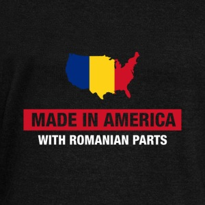 Made In America With Romanian Parts Romania Flag - Women's Wideneck Sweatshirt