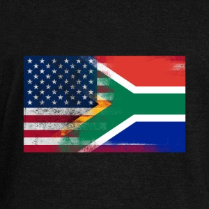 South African American Half South Africa Half Flag - Women's Wideneck Sweatshirt
