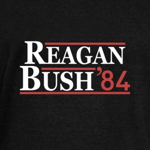 Vintage 80s Reagan Bush 84 Republican Political - Women's Wideneck Sweatshirt