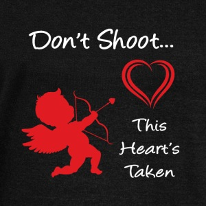 Don't Shoot, This Heart's Taken - Women's Wideneck Sweatshirt