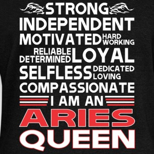 Strong Independent Motivates Aries Queen - Women's Wideneck Sweatshirt