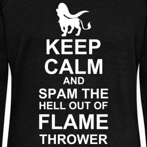 Keep Calm and Spam Flame Thrower - Women's Wideneck Sweatshirt