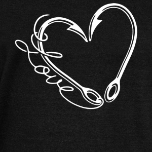 Fishing Hook Heart T Shirt - Women's Wideneck Sweatshirt