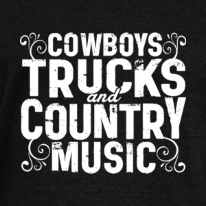 Cowboys Trucks And Country Music T Shirt - Women's Wideneck Sweatshirt