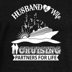 Husband And Wife Cruising Partners For Life TShirt - Women's Wideneck Sweatshirt