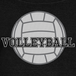 Volleyball Ball - Women's Wideneck Sweatshirt