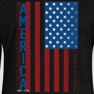 American Flag - Women's Wideneck Sweatshirt