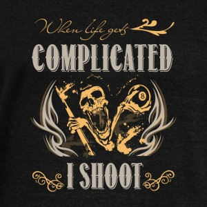 When Life Gets Complicated I Shoot T Shirt - Women's Wideneck Sweatshirt