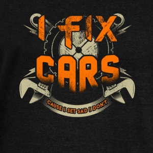 I Fix Cars Cause I Set Sad I Don't T Shirt - Women's Wideneck Sweatshirt