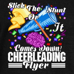 STICK THE STUNT CHEERLEADER SHIRT - Women's Wideneck Sweatshirt