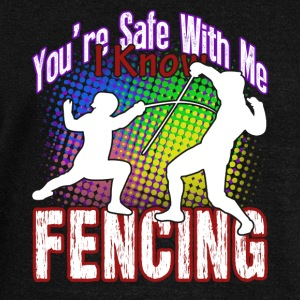 I KNOW FENCING SHIRT - Women's Wideneck Sweatshirt