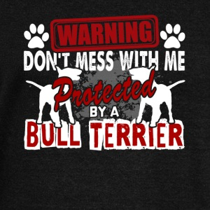 PROTECTED BY BULL TERRIER DOG SHIRT - Women's Wideneck Sweatshirt