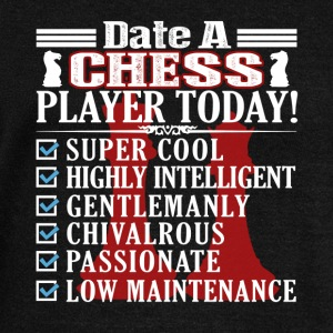 DATE A CHESS PLAYER SHIRT - Women's Wideneck Sweatshirt