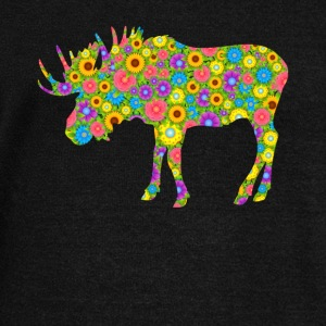 Moose Flower Shirt - Women's Wideneck Sweatshirt