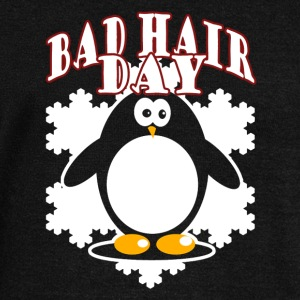 Penguin Bad Hair Day Shirt - Women's Wideneck Sweatshirt