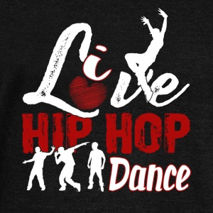 LIVE LOVE HIP HOP DANCE DESIGNS SHIRT - Women's Wideneck Sweatshirt