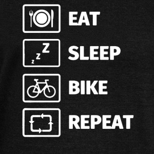 LIFE OF A CYCLIST EAT SLEEP BIKE SHIRT - Women's Wideneck Sweatshirt