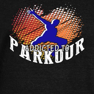 ADDICTED TO PARKOUR SHIRT - Women's Wideneck Sweatshirt