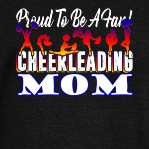 PROUD TO BE A FAN CHEERLEADING MOM SHIRT - Women's Wideneck Sweatshirt