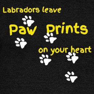 LABRADORS LEAVE PAW PRINTS ON YOUR HEART SHIRT - Women's Wideneck Sweatshirt
