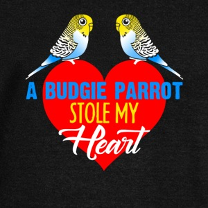 Budgie Parrot Stole My Heart Shirt - Women's Wideneck Sweatshirt