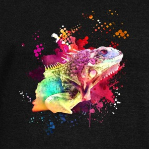 İguana Watercolor Tee Shirt - Women's Wideneck Sweatshirt