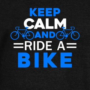 Keep Calm And Ride A Bike Shirt - Women's Wideneck Sweatshirt