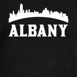 Vintage Style Skyline Of Albany NY - Women's Wideneck Sweatshirt