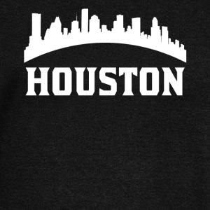 Vintage Style Skyline Of Houston TX - Women's Wideneck Sweatshirt