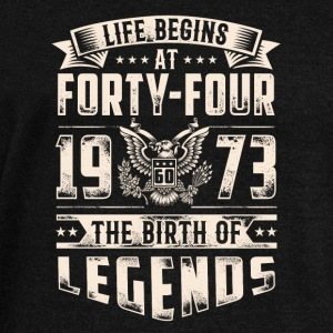 Life Begins At Forty Four Tshirt - Women's Wideneck Sweatshirt