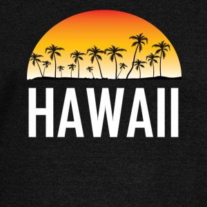 Hawaii Sunset And Palm Trees Beach Vacation - Women's Wideneck Sweatshirt