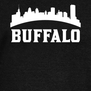 Vintage Style Skyline Of Buffalo NY - Women's Wideneck Sweatshirt