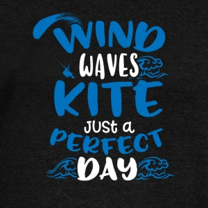 Wind Waves Kite Just A Perfect Day - Women's Wideneck Sweatshirt