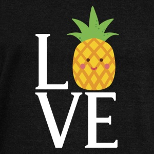 LOVE - pineapple - Women's Wideneck Sweatshirt