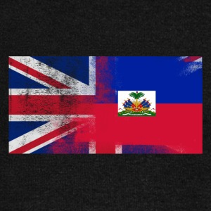 British Haitian Half Haiti Half UK Flag - Women's Wideneck Sweatshirt