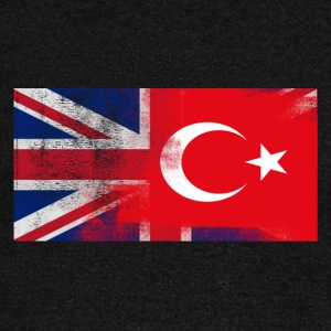 British Turkish Half Turkey Half UK Flag - Women's Wideneck Sweatshirt