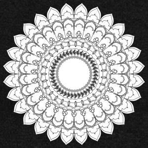 monochrome flower mandala vintage decorative - Women's Wideneck Sweatshirt