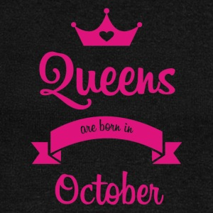 Queens are born in October - Women's Wideneck Sweatshirt