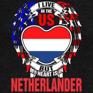 I Live In The Us But My Heart Is In Netherlander - Women's Wideneck Sweatshirt