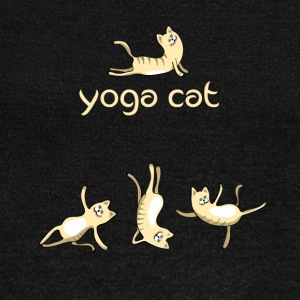 yoga Cat namaste shiva woman fun buddha cute humor - Women's Wideneck Sweatshirt