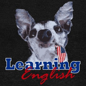 Learning English Dog - Women's Wideneck Sweatshirt