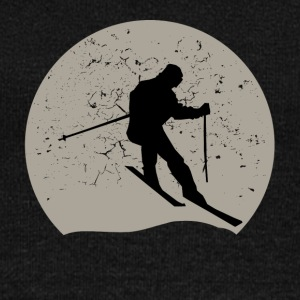 Skiing Full Moon - Women's Wideneck Sweatshirt