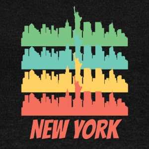 Retro New York City Skyline Pop Art - Women's Wideneck Sweatshirt