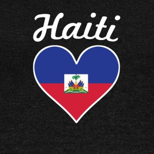 Haiti Flag Heart - Women's Wideneck Sweatshirt